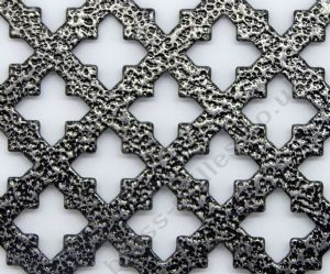 Small Cross 16 Pewter Grille Powder Coated Steel Sheet 1000mm x 660mm x 1mm